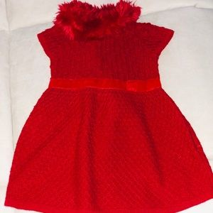 Red baby dress.